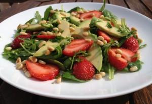 aardbei rucola salade